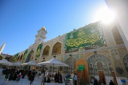 Imam Ali's holy shrine decorated for Eid al-Ghadir