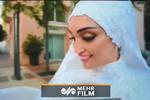 صحنههای غمانگیز از عروسی زوج لبنانی در لحظه انفجار