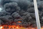 آتش سوزی گسترده در عجمان امارات