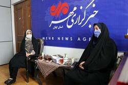بازدید مدیر کل امور بانوان و خانواده استانداری از دفتر مهر در استان گیلان