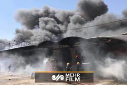 آتش سوزی انبار مواد غذایی در نجف اشرف