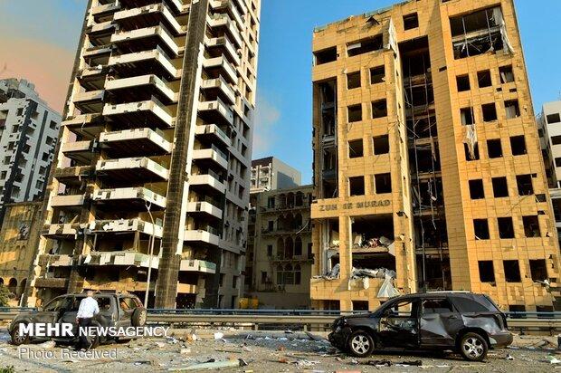انفجار ضخم في مرفأ بيروت / صور