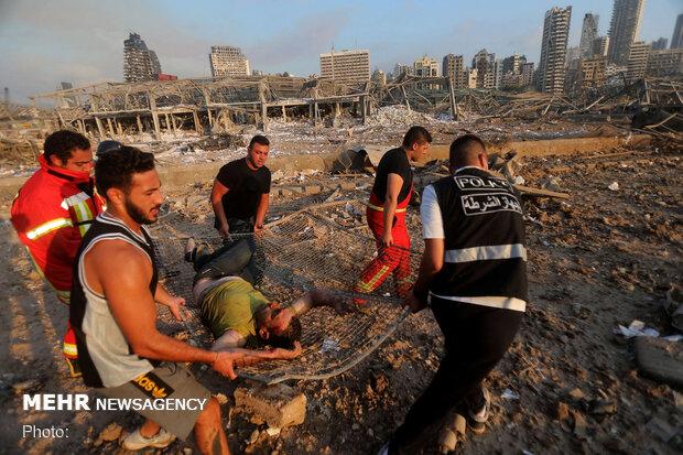 افزایش تعداد قربانیان و مجروحان انفجار بندر بیروت