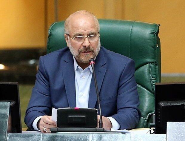 قاليباف يدعو برلمانات الدول الاسلامية للتصدي لإتفاق التطبيع بين الإمارات واسرائيل