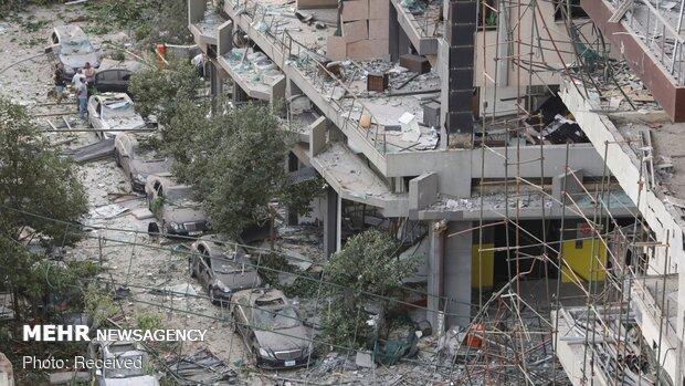 بیروت میں ہونے والے دھماکوں نے ساحلی پٹی کو کھنڈر بنا دیا