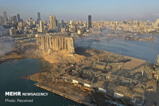 اعتراض مردم بیروت به حضور سعدحریری در محل انفجار