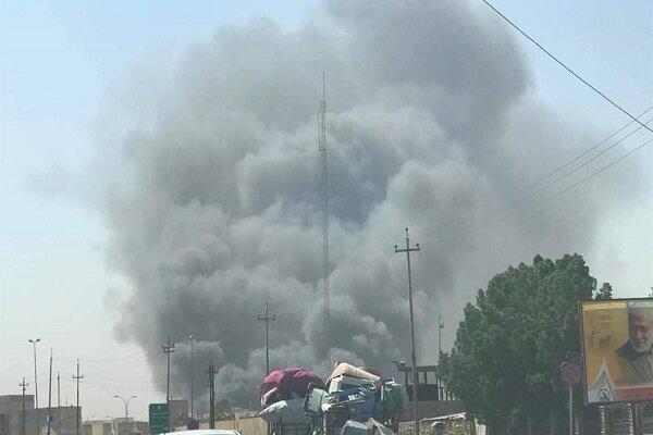جزییات آتش سوزی انبارهای مواد غذایی و لوازم الکتریکی در نجف