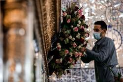 Hz. Ali Türbesi (a.s) çiçeklerle süslendi