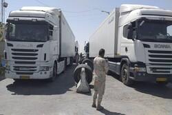 Commutes of Iranian trucks at Milak border banned