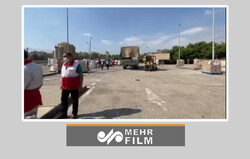 İran Kızılay'ın Beyrut'taki sahra hastanesi inşaatından görüntüler