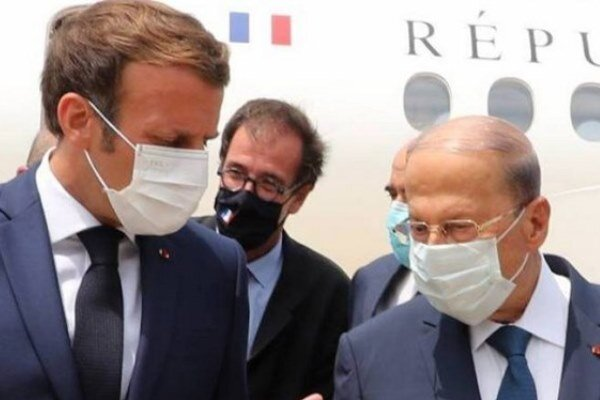 فرانس کے صدر بیروت پہنچ گئے