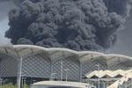 وقوع آتش سوزی در منطقه «حرمین» جده