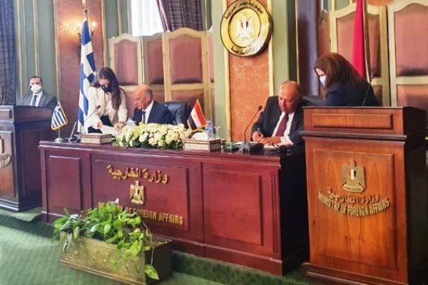 مصر و یونان توافقنامه تعیین منطقه انحصاری اقتصادی را امضا کردند