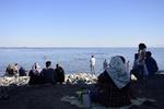 جولان کرونا در ساحل دریاچه ارومیه