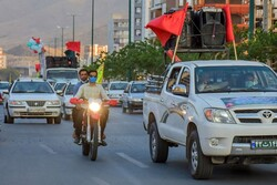 کاروان شادی غدیر در خیابانهای تبریز