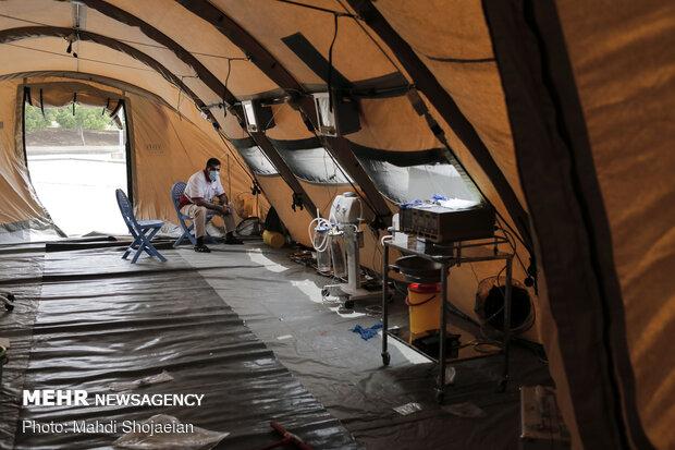 برپایی بیمارستان سیار هلال احمر ایران در بیروت