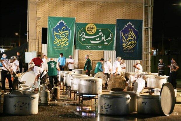 اطعام ۳۴ هزار نفری غدیر در دزفول برپا شد