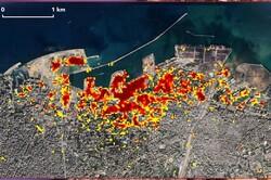 برآورد خسارات انفجار بیروت با دادههای ماهوارهای