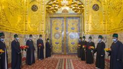 حضرت عباس (ع) کے حرم مطہر کے ایوان طلائی کی نقاب کشائی
