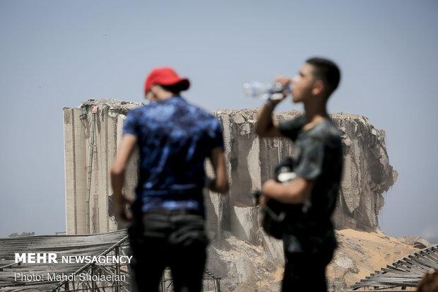 خسائر إنفجار مرفأ بيروت الدولي بعدسة وكالة مهر / صور