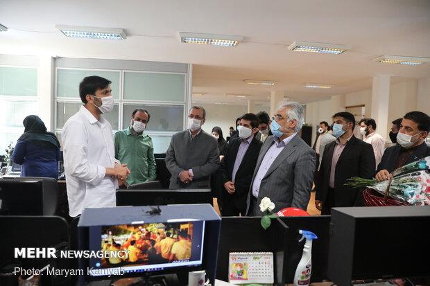 بازدید طهرانچی از تحریریه خبرگزاری مهر