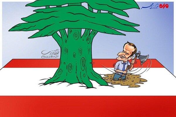 ماکرون یسعی لزرع الفتنة فی لبنان