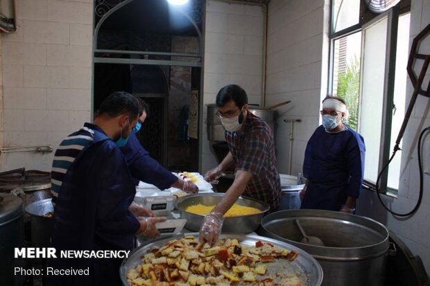 اطعام عید غدیر توسط خیریه شهدای مدافع حرم