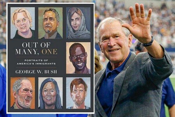 کتاب جدید جورج بوش؛ ترکیبی از نقاشیها و نوشتههای او از مهاجران