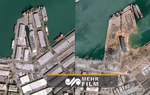 تصاویر ماهواره ای جدید از انفجار بندر بیروت