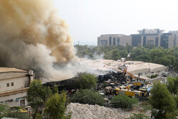 حضور پر رنگ مدیران سازمان منطقه آزاد کیش در عملیات مهار آتش سوزی