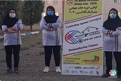 حازت عضوة المنتخب الوطني الايراني علی الميدالية الذهبية للكرة الحديدية