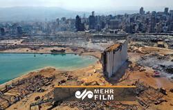 Beyrut'taki patlamanın bıraktığı yıkımdan yeni görüntüler