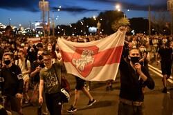 درگیری پلیس بلاروس با معترضان به نتیجه انتخابات