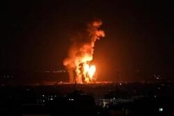 غزہ میں حماس کے ٹھکانوں پراسرائیلی جنگی طیاروں کی  وحشیانہ بمباری