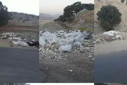 جاده قدیم ایلام-مهران در تسخیر زباله/لزوم برخورد با متخلفان