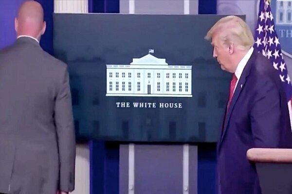 اطلاق نار في البيت الابيض يتسبب بهروب الرئيس الامريكي من المؤتمر