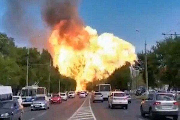 روس کے شہر وولوگراڈ میں ایندھن اسٹیشن پر دھماکہ
