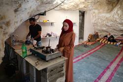 زندگی خانواده فلسطینی در دل کوه