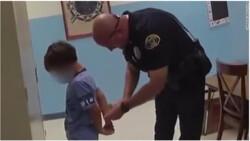 بازداشت و تراشیدن موی کودک ۸ ساله آمریکایی به جرم توهین به معلم/انتقال دانشآموز با دستبند