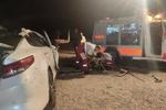 تصادف سواری اوپتیما با تریلی در محور دامغان-جندق/۲ نفر جان باختند