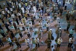حرم حضرت معصومہ (س) میں نماز با جماعت
