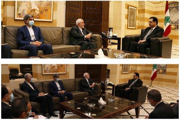 Some seeking to destabilize Lebanon, Zarif tells Diab