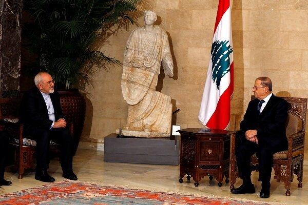 ایرانی وزیر خارجہ کی لبنان کے صدر سے ملاقات