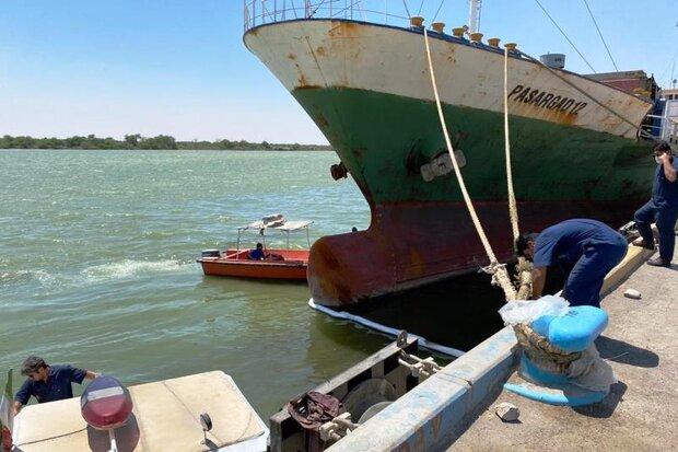 آلودگی نفتی در اسکله بندر خرمشهر مهار شد