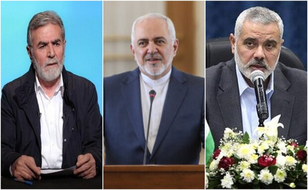 FM Zarif discusses UAE's betrayal with Palestinian groups