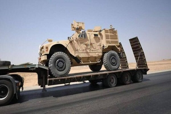 کاروان حامل تجهیزات ارتش آمریکا در عراق هدف قرار گرفت