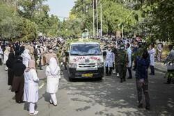 مراسم تشییع پیکر شهید مدافع سلامت سرهنگ اصغر عیسی آبادی