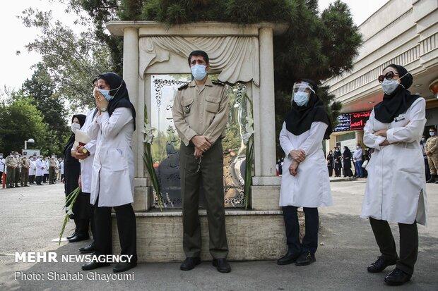 مراسم تشییع پیکر شهید مدافع سلامت سرهنگ پزشک اصغر عیسی آبادی