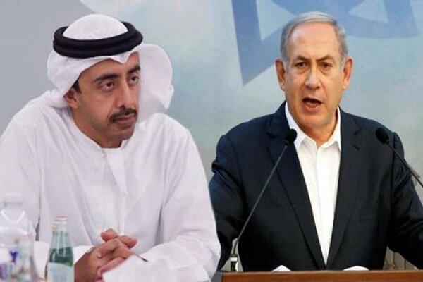 لقاء نتانیاهو ومحمد بن زاید في مطار ابوظبي