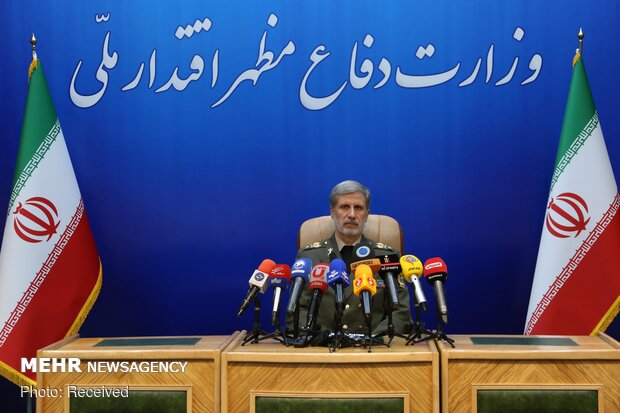 Minister of Defense attends press conference on Sunday